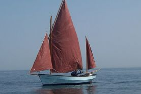 Drascombe Dabber Sailing Boat on the water