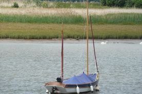 Drascombe Lugger Sailing Boat moored