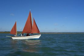 Drascombe Lugger Sailing Boat in motion